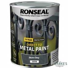 Ronseal Direct To Metal Paint Storm Grey Satin 250ml