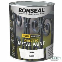 Ronseal Direct To Metal Paint White Gloss 250ml