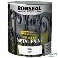 Ronseal Direct To Metal Paint White Matt 2.5 Litre