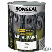 Ronseal Direct To Metal Paint White Satin 2.5 Litre