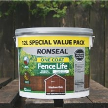 Roanseal Medium Oak One Coat Fence Life 12 Litres