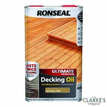 Ronseal Natural Pine Ultimate Protection Decking Oil 5 Litres