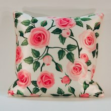 Rose Garden Pink / Green Cushion