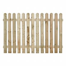 Round Top Picket Fence Panel 1.8 x 1.2m
