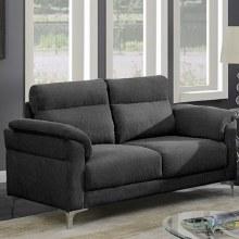 Roxy 2 Seater Fabric Sofa Dark Grey