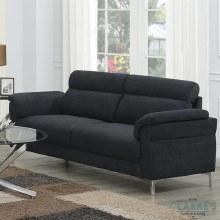 Roxy 3 Seater Fabric Sofa Dark Grey