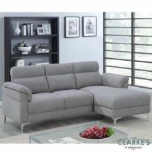 Roxy Right Hand Facing Corner Sofa Light Grey