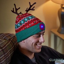 Rudolph Hat with LED Lights
