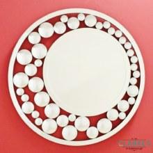 Rugiada luxury round wall mirror 90cm