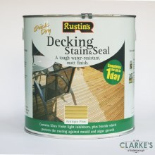 Rustins Decking Stain and Seal Antique Pine 2.5 Litre