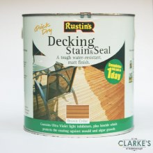 Rustins Decking Stain and Seal Brown Cedar 2.5 Litre