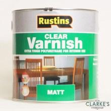 Rustins Polyurethene Varnish Matt Clear 500ml