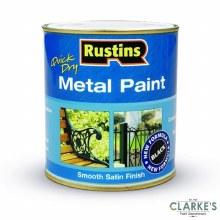 Rustins Quick Dry Metal Paint Black 500ml