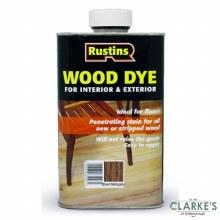Rustins Wood Dye Brown Mahogany 250 ml
