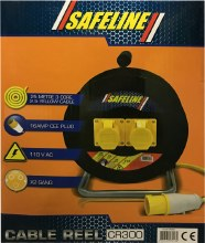 Safeline 25m 110V Cable Reel