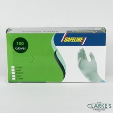 Safeline Disposable Latex Gloves Pack of 100