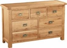Salisbury Oak 3 Over 4 Drawer Chest
