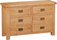 Salisbury Oak 6 Drawer Chest