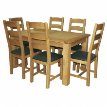 Salisbury Oak Dining Set. 180cm dining table and 6 chairs