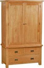Salisbury Oak Gent Wardrobe with 3 Drawers