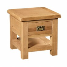 Salisbury Oak Lamp Table with Drawer