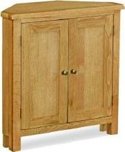 Salisbury LIte Oak corner cupboard