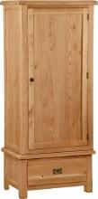 Salisbury Oak Single Wardrobe