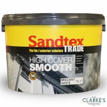 Sandtex Trade High Cover Masonry Paint Brilliant White