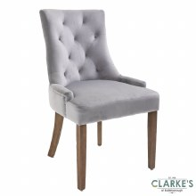 Sandy Velvet Dining Chair Grey