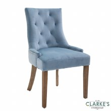 Sandy Velvet Dining Chair Light Blue