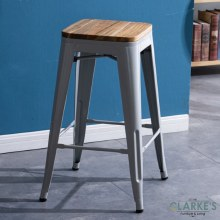 Seattle contemporary bar stool grey