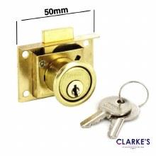 Brass Drawer Lock 50mm