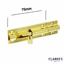Brass Door Bolt 75mm