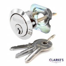 Chrome Universal Spare Cylinder Lock