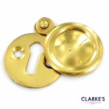 Victorian Brass Keyhole Cover 35mm
