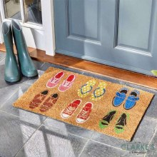 Shoe-Aholic Coir Door Mat