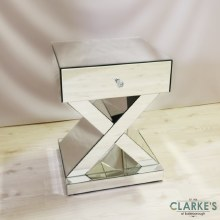 Signorina X Mirrored Lamp Table with Drawer