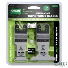 Smart Multi-Tool Rapid Wood & Plastic Blade Set 32mm 63mm