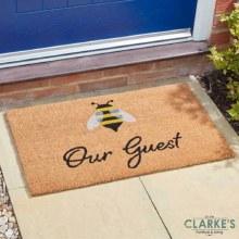 Bee Our Guest - Outdoor Decoir Door Mat 75 x 45cm