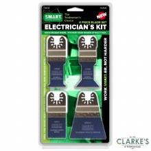 Smart Electrician's Multi-Tool Blade Kit 4 Pcs
