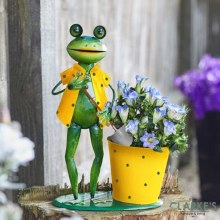 Frog Planting Pot Garden Decoration