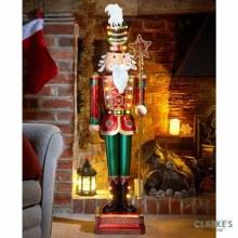 Giant Nutcracker LED Lit 119 cm Tall