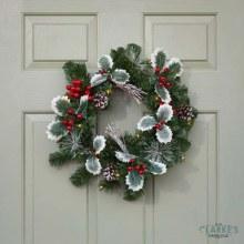 Holly Berry LED Lit Wreath 40 cm