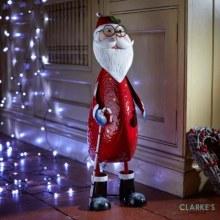 Polka Santa XL Christmas Figure 60cm