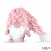 Super Furry Winter Wilfred Christmas Decoration Pink