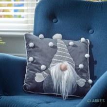 Gonkert Christmas Cushion Grey