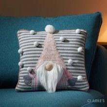 Gonkert Christmas Cushion Pink