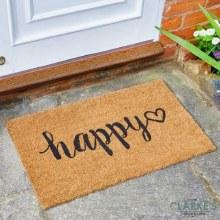 Happy Heart - Outdoor Decoir Door mat 75 x 45cm