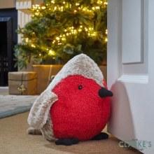 Robin Redbreast Doorstop Christmas Decoration