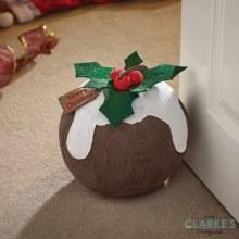 Xmas Pud Doorstop Christmas Decoration